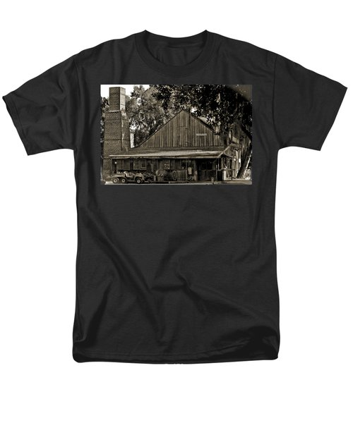Men's T-Shirt  (Regular Fit) featuring the photograph Old Spanish Sugar Mill Old Photo by DigiArt Diaries by Vicky B Fuller