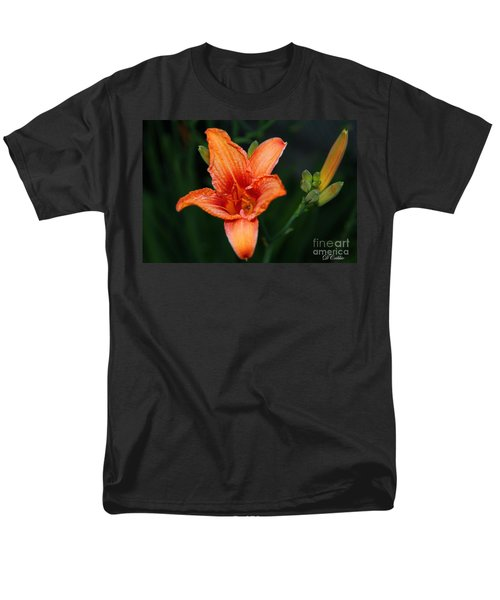 Men's T-Shirt  (Regular Fit) featuring the photograph Orange Lily by Davandra Cribbie