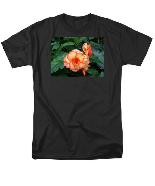 Men's T-Shirt  (Regular Fit) featuring the digital art Orange Spectacular by Claude McCoy