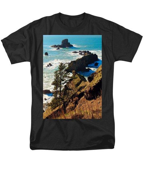 Men's T-Shirt  (Regular Fit) featuring the photograph Oregon Coast by Athena Mckinzie