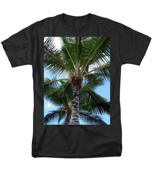 Men's T-Shirt  (Regular Fit) featuring the photograph Palm Tree Umbrella by Athena Mckinzie
