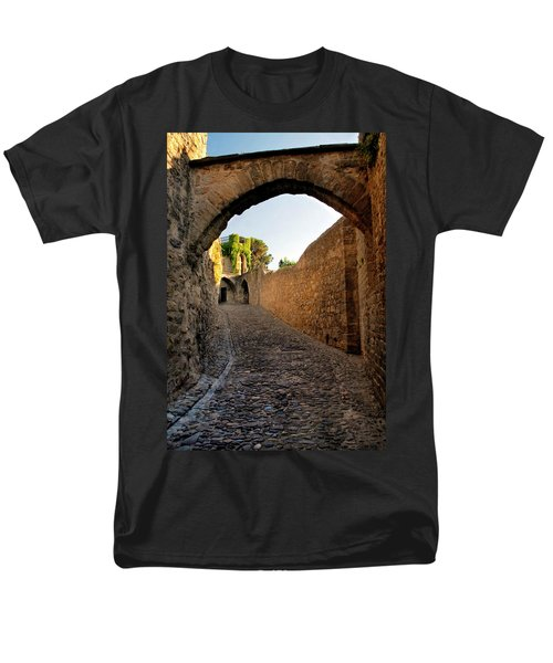 Men's T-Shirt  (Regular Fit) featuring the photograph Pathway Through Gordes France by Dave Mills