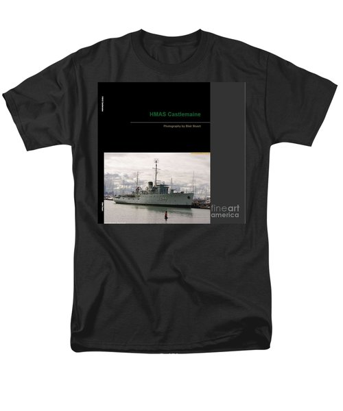 Men's T-Shirt  (Regular Fit) featuring the mixed media Photobook On Hmas Castlemaine by Blair Stuart