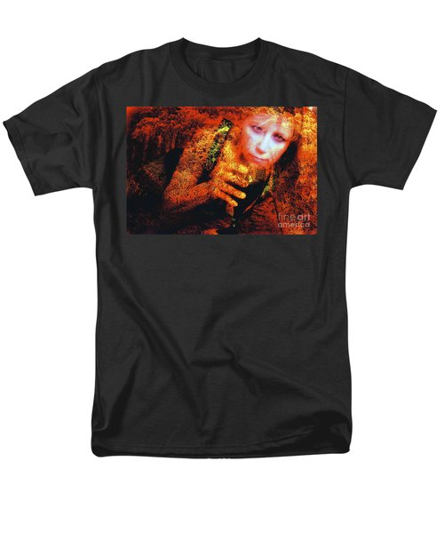 Men's T-Shirt  (Regular Fit) featuring the photograph Picnic In The Forest by Clayton Bruster