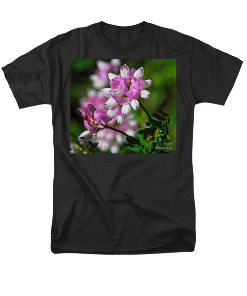 Pink And White Men's T-Shirt  (Regular Fit) by Cindy Manero