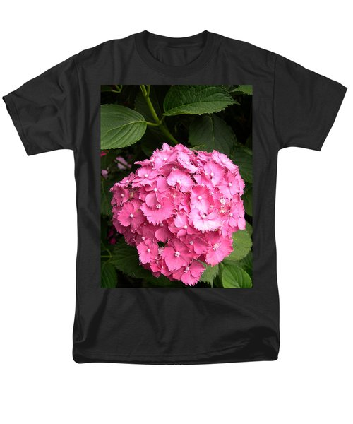 Men's T-Shirt  (Regular Fit) featuring the digital art Pink Hydranga by Claude McCoy