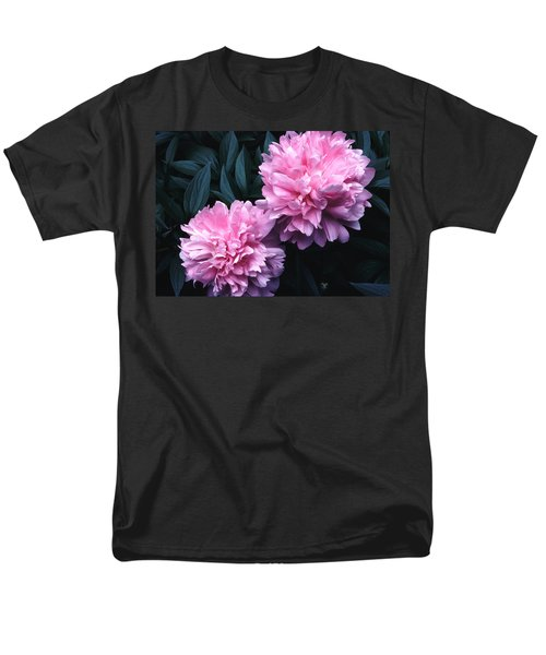 Pink Peony Pair Men's T-Shirt  (Regular Fit) by Tom Wurl