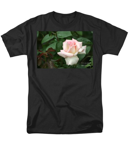 Men's T-Shirt  (Regular Fit) featuring the photograph Pink Promise by Living Color Photography Lorraine Lynch