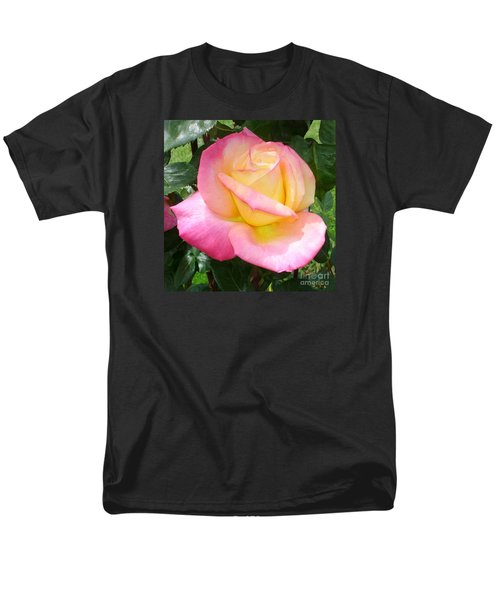 Pink Yellow Beauty Men's T-Shirt  (Regular Fit) by Tanya  Searcy