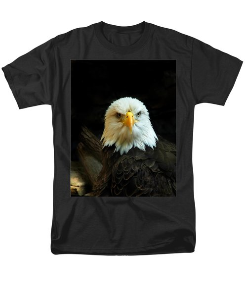 Men's T-Shirt  (Regular Fit) featuring the photograph Portrait American Bald Eagle by Randall Branham