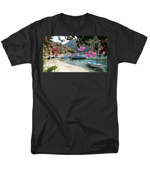 Men's T-Shirt  (Regular Fit) featuring the photograph Quiet Cove by Therese Alcorn
