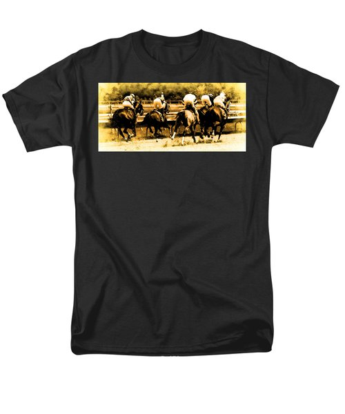 Men's T-Shirt  (Regular Fit) featuring the photograph Race To The Finish Line by Alice Gipson