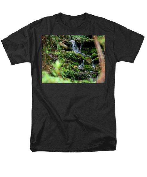 Rainbow Springs Waterfall Men's T-Shirt  (Regular Fit) by Judy Wanamaker