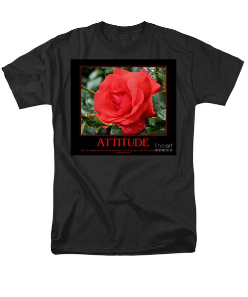 Men's T-Shirt  (Regular Fit) featuring the photograph Red Rose Attitude by Smilin Eyes  Treasures