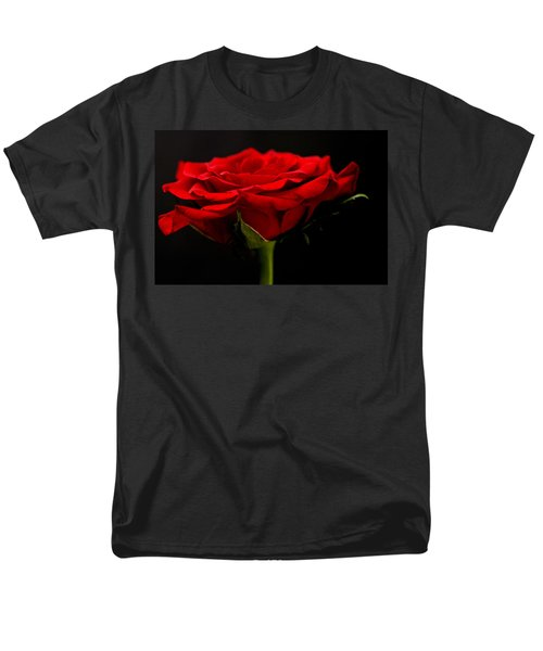 Men's T-Shirt  (Regular Fit) featuring the photograph Red Rose by Steve Purnell