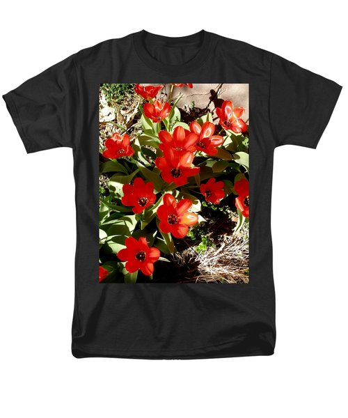 Men's T-Shirt  (Regular Fit) featuring the photograph Red Tulips by David Pantuso