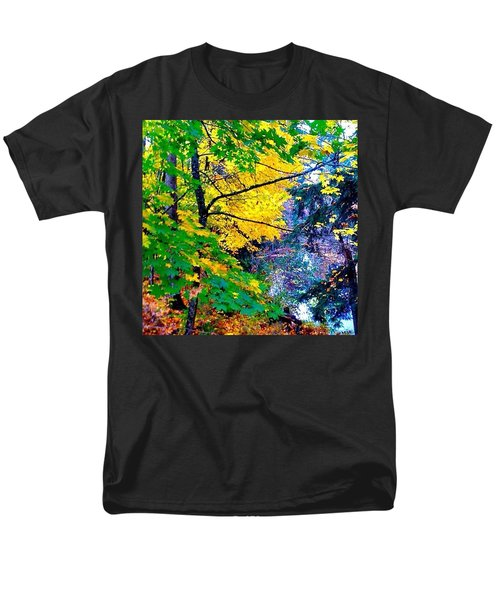 Reed College Canyon Fall Leaves II Men's T-Shirt  (Regular Fit) by Anna Porter