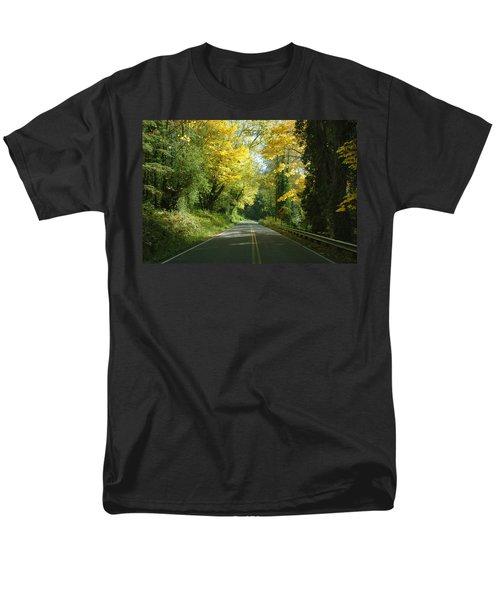 Road Through Autumn Men's T-Shirt  (Regular Fit) by Kathleen Grace