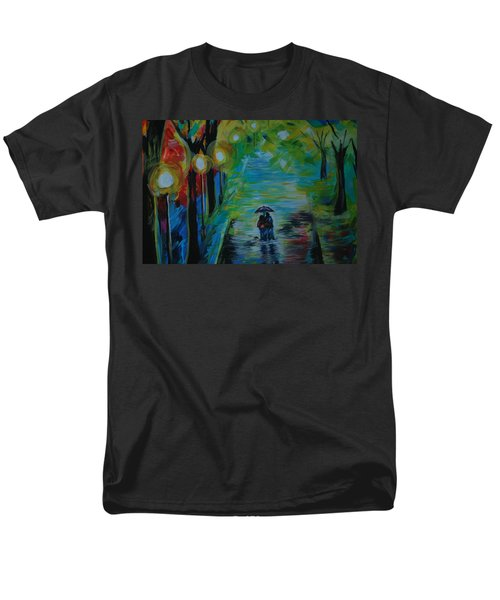 Men's T-Shirt  (Regular Fit) featuring the painting Romantic Stroll Series 1 by Leslie Allen