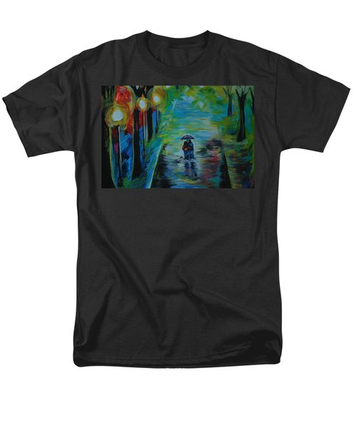 Men's T-Shirt  (Regular Fit) featuring the painting Romantic Stroll Series II by Leslie Allen