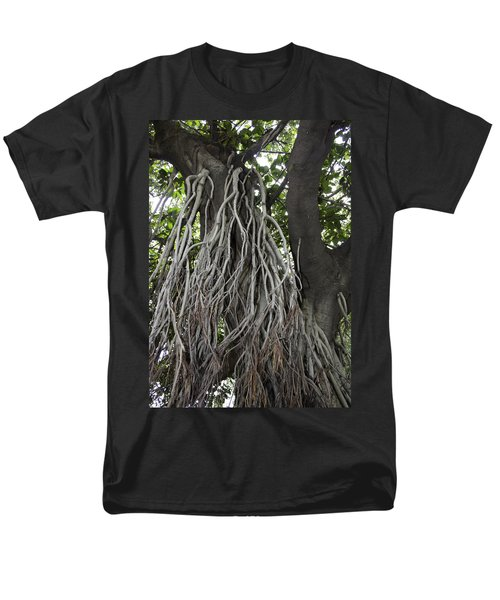 Men's T-Shirt  (Regular Fit) featuring the photograph Roots From A Large Tree Inside Jallianwala Bagh by Ashish Agarwal