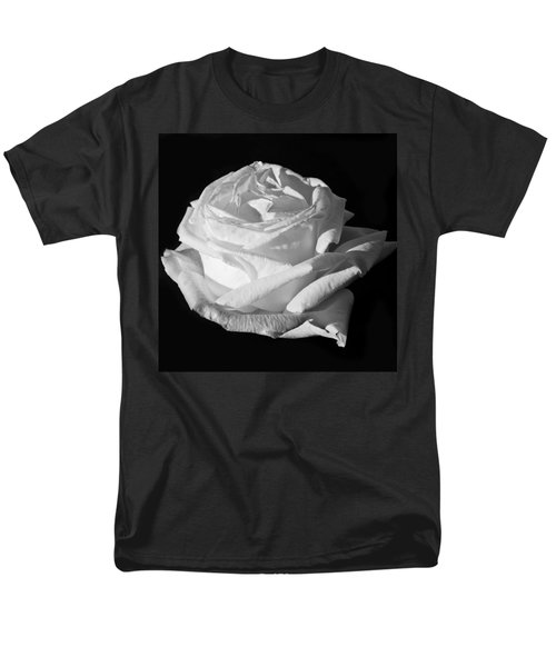 Men's T-Shirt  (Regular Fit) featuring the photograph Rose Silver Anniversary Monochrome by Steve Purnell