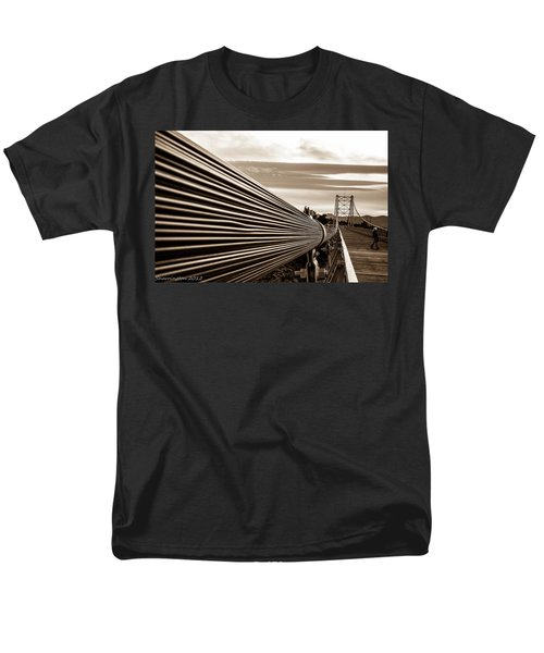 Royal Gorge Bridge Men's T-Shirt  (Regular Fit) by Shannon Harrington