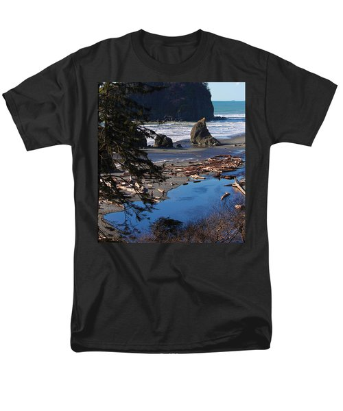Men's T-Shirt  (Regular Fit) featuring the photograph Ruby Beach IIi by Jeanette C Landstrom