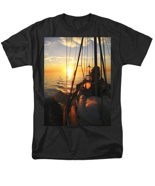 Men's T-Shirt  (Regular Fit) featuring the digital art Sailing by Anne Mott