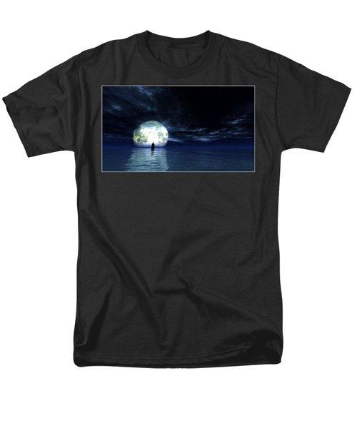 Men's T-Shirt  (Regular Fit) featuring the digital art Sailing At Night... by Tim Fillingim