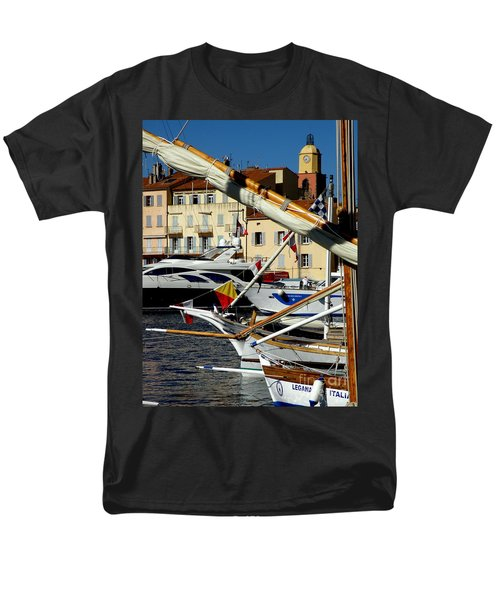 Saint Tropez Harbor Men's T-Shirt  (Regular Fit) by Lainie Wrightson