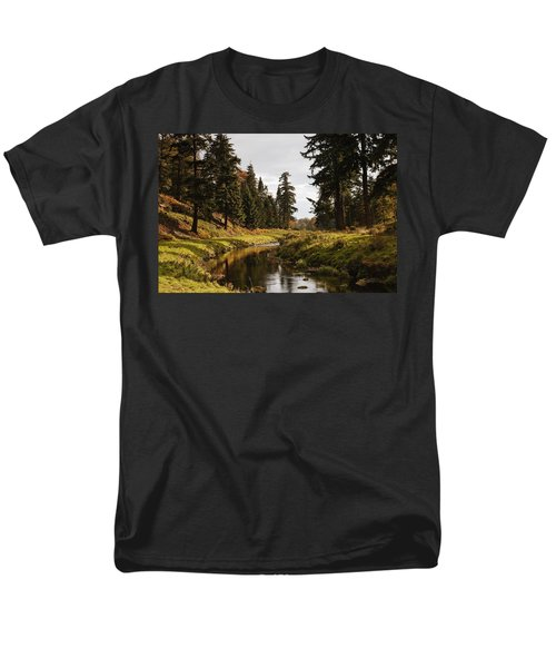 Scenic River, Northumberland, England Men's T-Shirt  (Regular Fit) by John Short