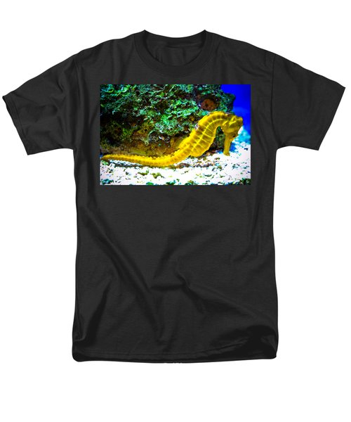 Men's T-Shirt  (Regular Fit) featuring the photograph Yellow Seahorse by Toni Hopper