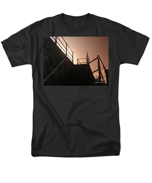 Men's T-Shirt  (Regular Fit) featuring the photograph Seaside Railings by Terri Waters
