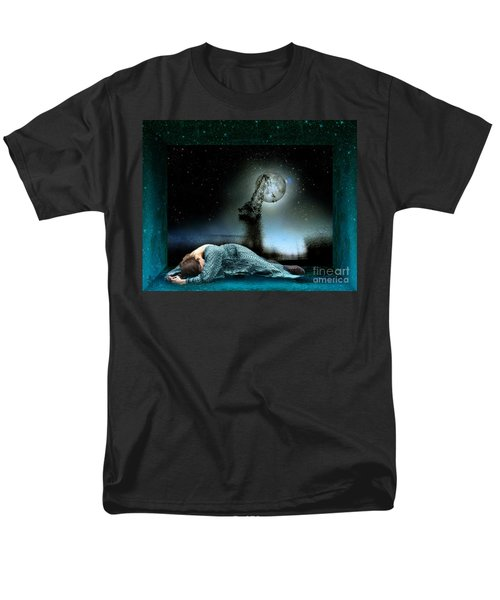 Men's T-Shirt  (Regular Fit) featuring the digital art Shrine Of Dreams by Rosa Cobos