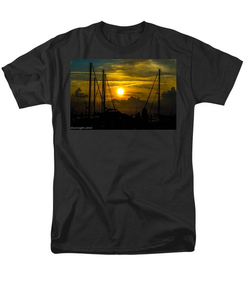 Silhouettes At The Marina Men's T-Shirt  (Regular Fit) by Shannon Harrington