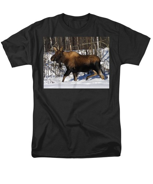 Men's T-Shirt  (Regular Fit) featuring the photograph Snow Moose by Doug Lloyd