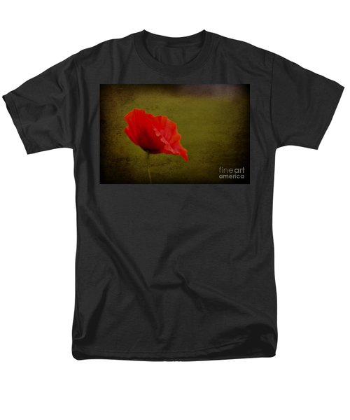 Men's T-Shirt  (Regular Fit) featuring the photograph Solitary Poppy. by Clare Bambers