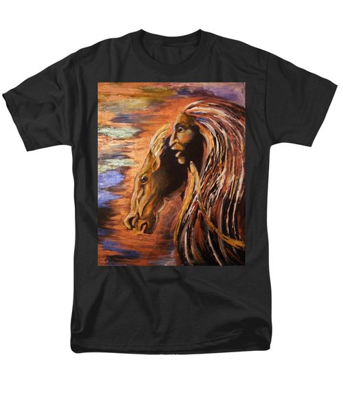 Soul Of Wild Horse Men's T-Shirt  (Regular Fit) by Karen  Ferrand Carroll