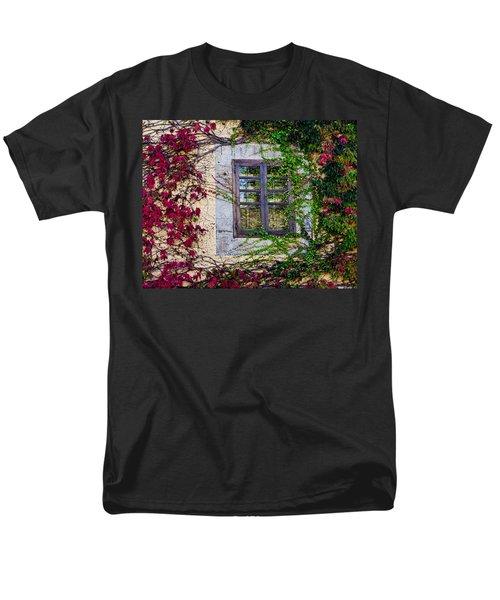 Men's T-Shirt  (Regular Fit) featuring the photograph Spanish Window by Don Schwartz