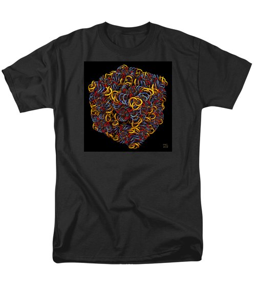 Men's T-Shirt  (Regular Fit) featuring the digital art Spiral Box Iv by Manny Lorenzo