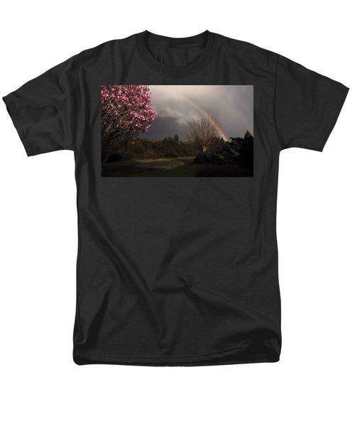 Spring Rainbow Men's T-Shirt  (Regular Fit) by Katie Wing Vigil