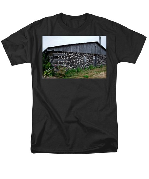 Men's T-Shirt  (Regular Fit) featuring the photograph Stacked Block Barn by Barbara McMahon
