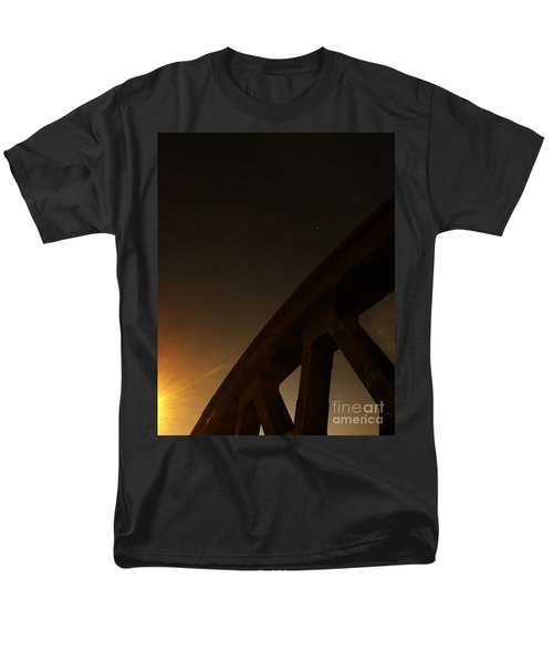 Men's T-Shirt  (Regular Fit) featuring the photograph Starry Night On Sunset Bridge by Andy Prendy