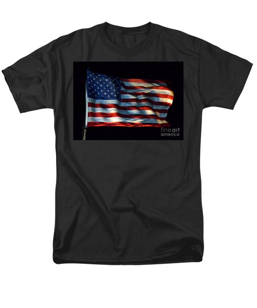 Stars And Stripes At Night Men's T-Shirt  (Regular Fit) by Kevin Fortier