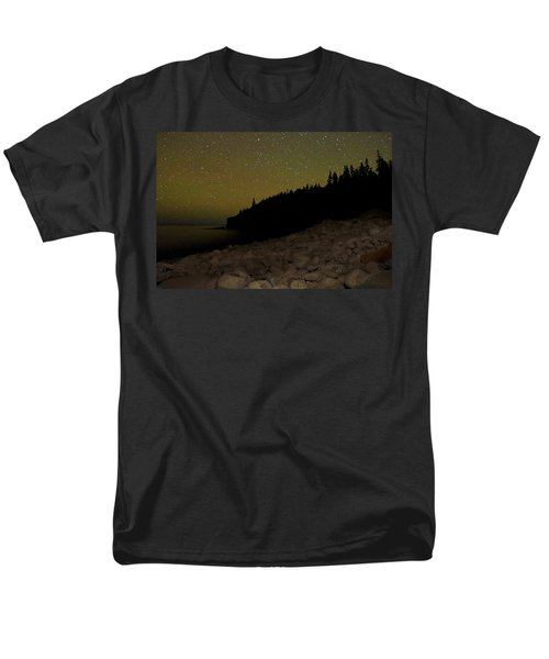 Men's T-Shirt  (Regular Fit) featuring the photograph Stars Over Otter Cliffs by Brent L Ander