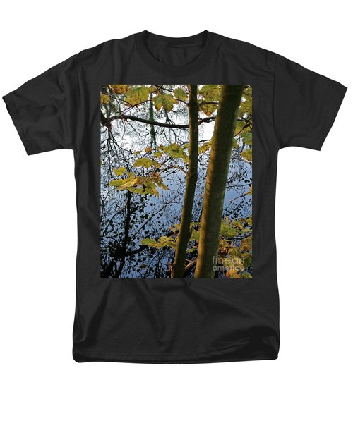 Men's T-Shirt  (Regular Fit) featuring the photograph Still Waters In The Fall by Andy Prendy