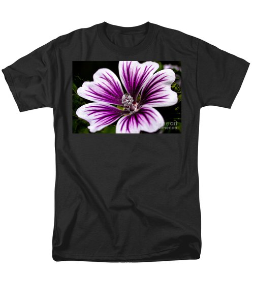 Men's T-Shirt  (Regular Fit) featuring the photograph Stripped Blossom by Larry Carr