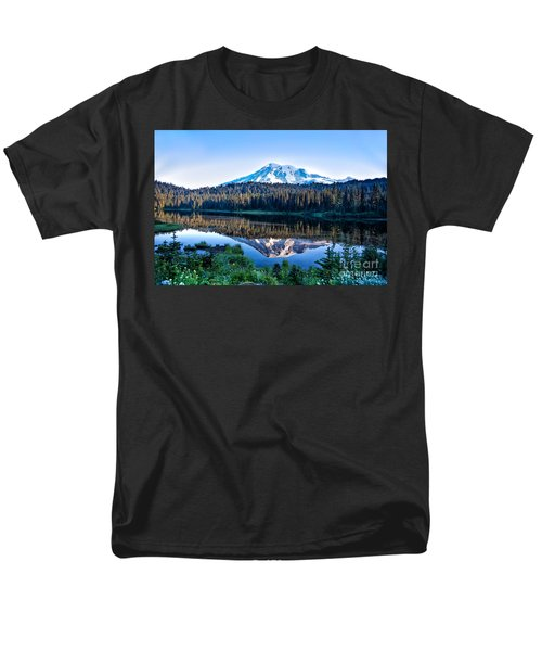 Sunrise At Reflection Lake Men's T-Shirt  (Regular Fit) by Ronald Lutz