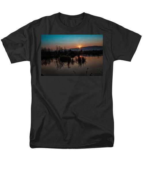Sunrise Over The Beaver Pond Men's T-Shirt  (Regular Fit) by Ronald Lutz